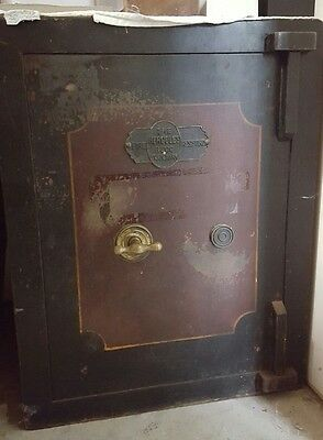 vintage key lock safe