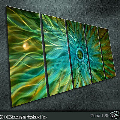 Original Metal Wall Art Large Painting Sculpture Indoor Outdoor Decor-Zenart