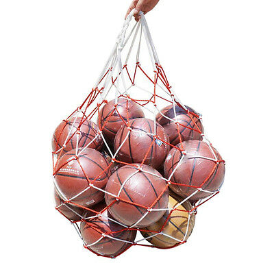 Soccer Net 10 Balls Carry Net Bag Sports Football Balls Volleyball ball IO
