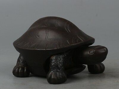 Interesting China Exquisite Hand-carved tortoise / Turtles Made of Purple Sand