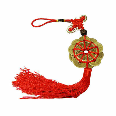 Feng Shui Mystic Knot 10 Chinese Lucky Coins Cures Home Career Health Wealth EB