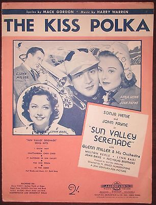 The Kiss Polka (from Sun Valley Serenade) - Australian Sheet Music / 1941