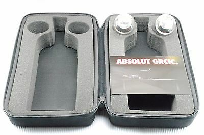 Absolut Vodka Collectible Shot Glass in Zippered Case Set Konstantin Grcic