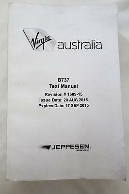 Jeppesen Boeing 737 Text Manual Expiry 17 SEP 2015 Pilot Aeronautical Aviation