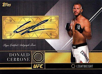 2016 Topps UFC Top Of The Class Autographs Insert - Donald Cerrone (TCA-DCE)