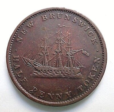 1843  New Brunswick Halfpenny Bank Token