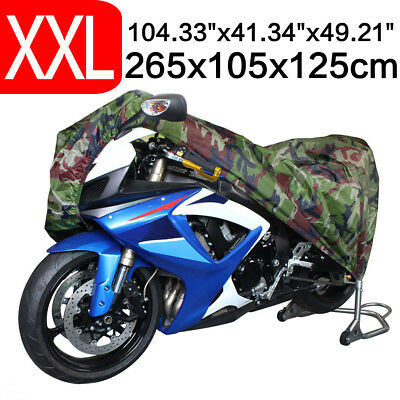 Camouflage XXL Waterproof UV Outdoor Motorcycle Motorbike Cruiser Scooter Cover