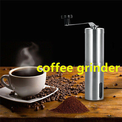 New Ceramic Burr Manual Coffee Grinder Portable Hand Crank Stainless Coffee Mill
