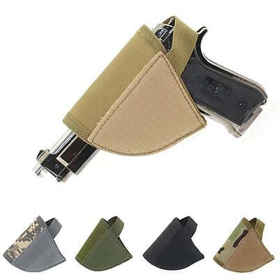 Every Day Carry Tactical Hook Loop Pistol Holster Right Hand Gun Holster Black