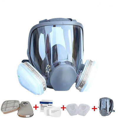 1 Set For 3M 6800 Gas Dust Mask Full Face Facepiece Respirator Painting Spraying