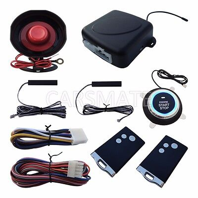 Smart RFID PKE Car Alarm System Passive Keyless Entry Remote Engine Start Stop
