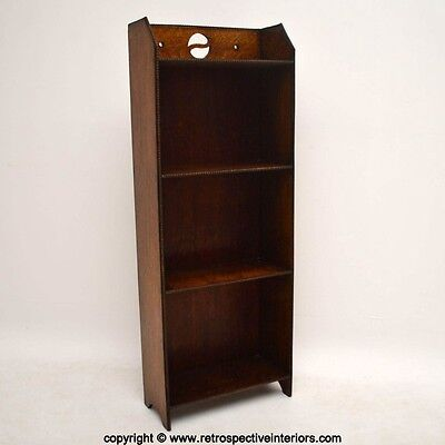 Antique Edwardian Arts & Crafts Open Bookcase Vintage 1900