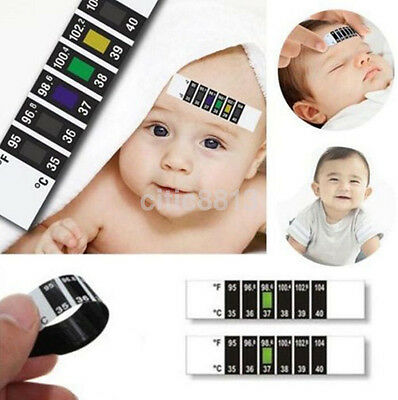 Kids Baby Child Forehead Head Strip Thermometer Fever Temperature Test AU^
