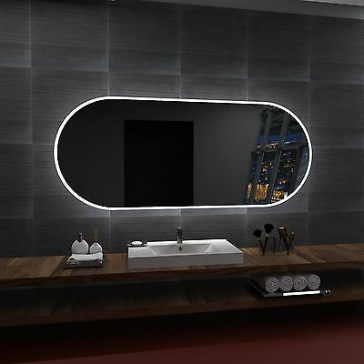 LED illuminated Mirror HAVANA 100x80 cm | Modern design | Wall mounted