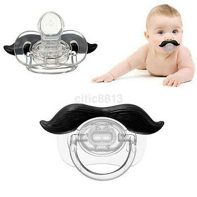 Mustache Baby Boy Infant Pacifier Orthodontic Dummy Beard Nipple Soother au^