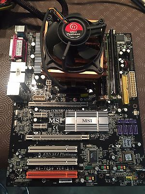 Motherboard CPU and memory combo