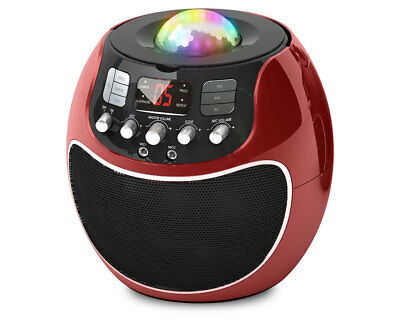 Goodmans XB13CDGRED Disco ball karaoke in Red