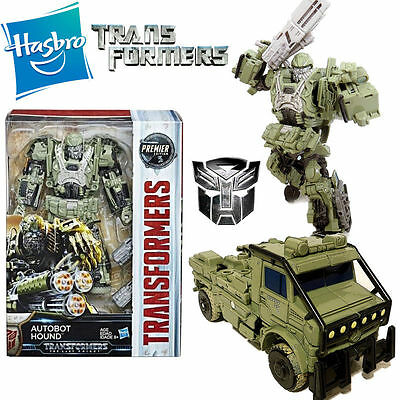 Transformers 5 The Last Knight Autobot Hound Action Figures Premier Edition Toy