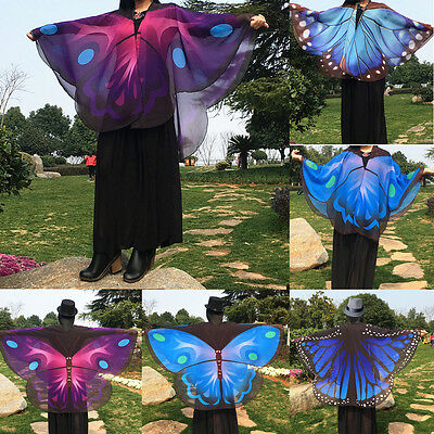 Newest Womens Ladies Scarf Butterfly Wing Soft Wrap Long Shawl Scarves Scarf