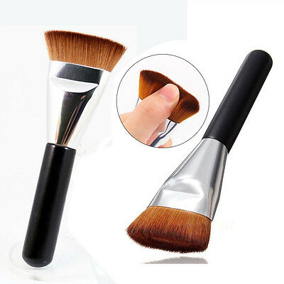 1Pcs Flat Top Angled Foundation Face Powder Blend Contour Cheek Pro Makeup Brush