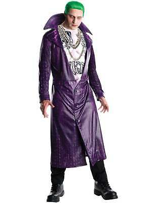 Mens Suicide Squad The Joker Movie Comic Outfit Fancy Dress Costume
