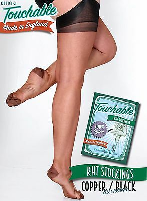 RHT Discretion Stockings - Copper / Black Extra-Large by Touchable