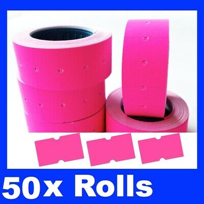 30 Fluro Fluoro  Pricing Price Tag Tagging Gun Label Rolls Bulk Pink