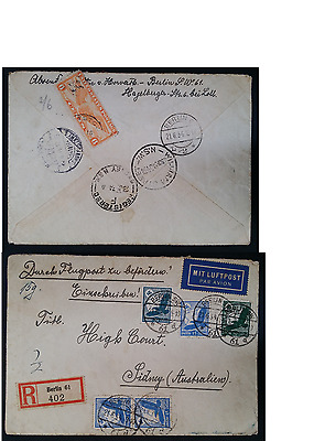 VERY RARE 1934 Germany Registd Cover ties 6 stamps inc. 6c USA Postage Due