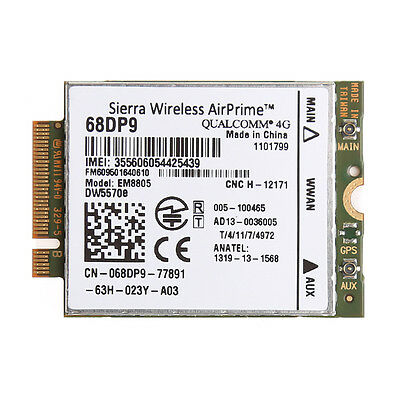 WWAN M.2 NGFF PCI Express Card Wireless 3G 4G For DELL DW5570e EM8805 68DP9 New
