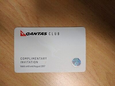 Qantas Club Invitation (expires August 2017)