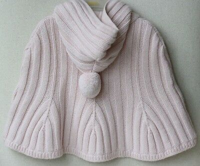 Baby Dior Pink Knitted Cape 6-12 Months