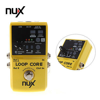 Yellow Nux Loop Core Guitar Effect Pedal Looper 6 Hours Recording Time Parts