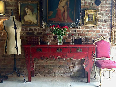 Stunning Antique Chinese Sideboard Credenza Table Dresser 19th Century Lacquered