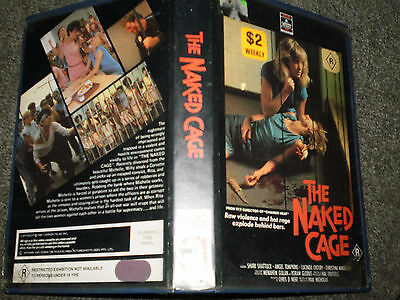 vhs the naked cage columbia pictures hoyts video big case ex rental