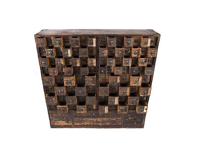 RARE Japanese Antique Medicine Chest 100 Drawer Cabinet Tansu Edo Period Alchemy