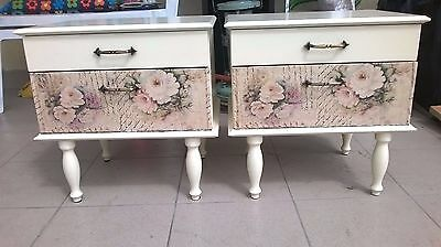 Pair of antique vintage nightstands art deco,mid century modern,bedside tables