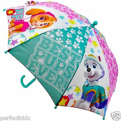 "Children's Official Licensed Girls Paw Patrol Skye Pups 16"" Umbrella Brolly Rain"