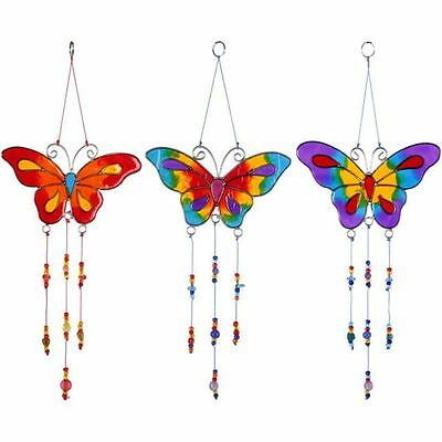 Butterfly Suncatcher Hanging Mobile Stained Glass Effect Sun Catcher