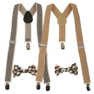 2colors Lot Boys Kids Juniors Suspender Fancy Dress Brace Adjustable Y-Shape