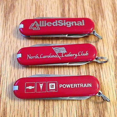 Lot of 3 New Victorinox Swiss Army Knife Red Classics #345