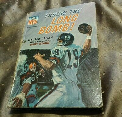 True Vtg 1967 NFL Authorized Edition THROW THE LONG BOMB By Jack Laflin
