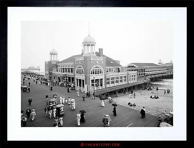Vintage Photo Steel Pier Atlantic City New Jersey Usa Framed Print F97X6478