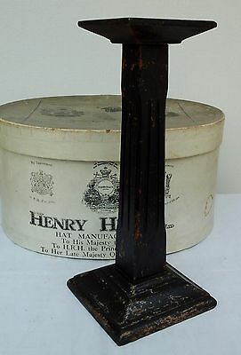 Original Vintage Art Deco, Black Wooden Hat Stand, Millinery Shop Display.