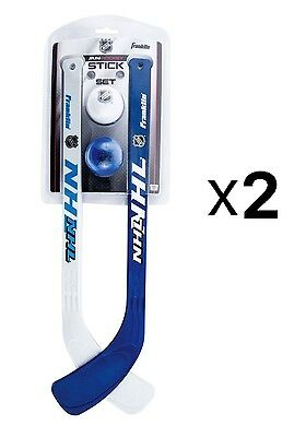 Franklin Sports Indoor Outdoor Mini Kids Hockey Stick And Ball Set (2-Pack)