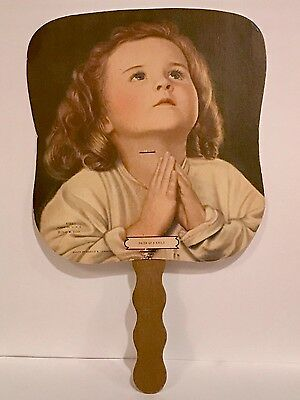 Vintage Hand Held Fan Advertising Farmers State Bank Pittsfield, Il.