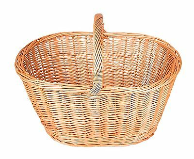 Handmade Wicker Willow Cookery / Shopping Basket - Hand Made 100% Natural - 4...