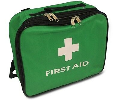 Empty Green Incident Bag - Soft Nylon Handles Shoulder Strap First Aid Medical