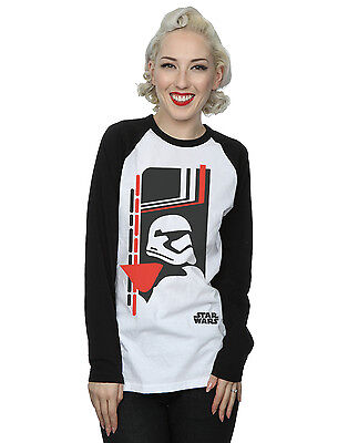 Star Wars Women's Force Awakens Phasma Long Sleeved Baseball Shirt