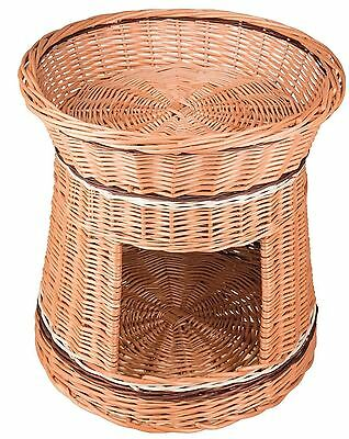 Handmade Wicker Willow Cat Basket and Tower- Hand Made 100% Natural - 46 x 46...