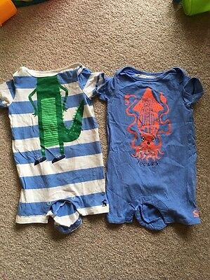 Joules Boys SS Romper Suits Age 6-9 Months